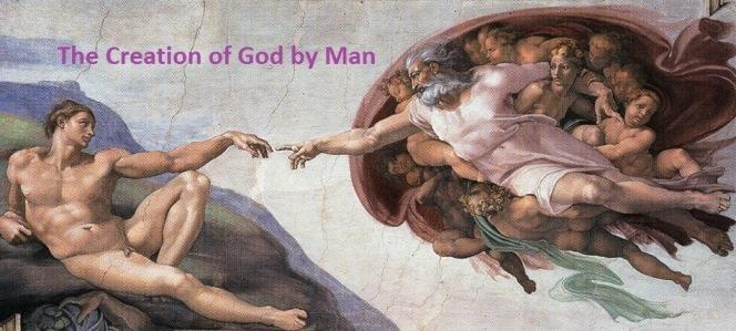 The_Creation_of_God_by_Man_naar_Michelangelo