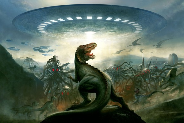 dinosaurusenvahisparlesextra-terrestes